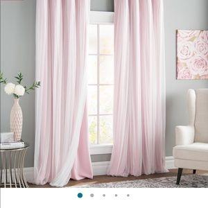 BROCKHAM Pink black out curtains